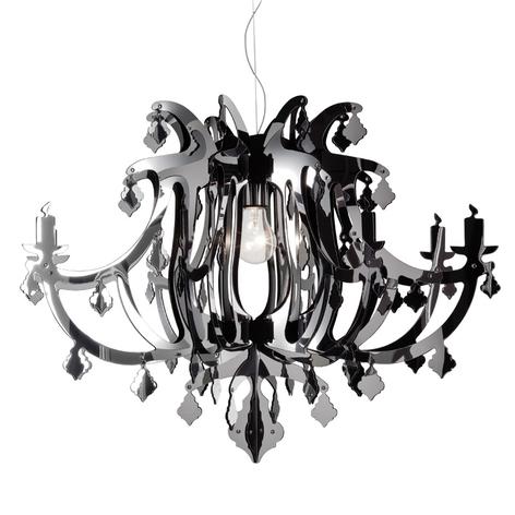 Slamp Ginetta - designové závěsné světlo, stříbrné