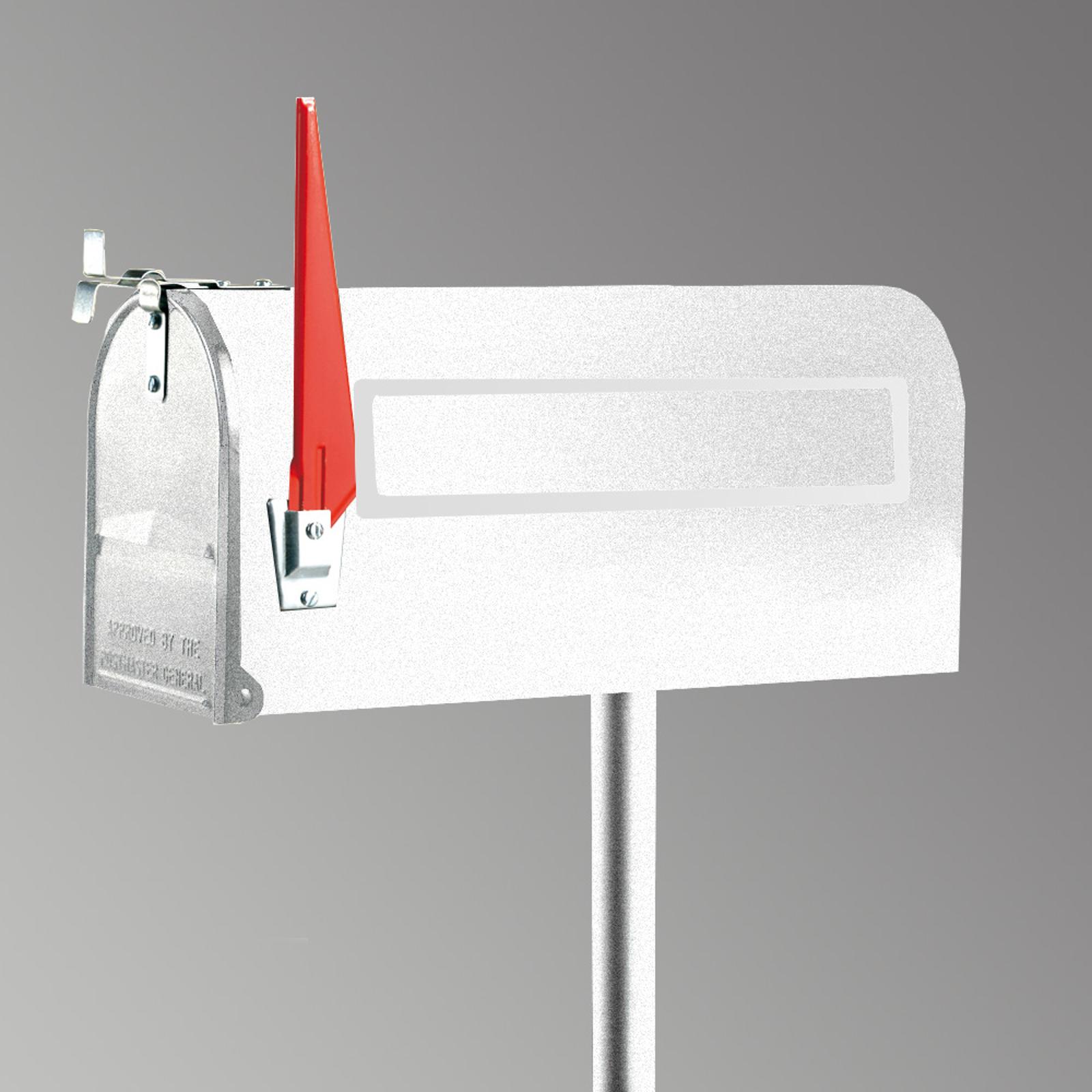 U.S. Mailbox med svängbar flagga, vit
