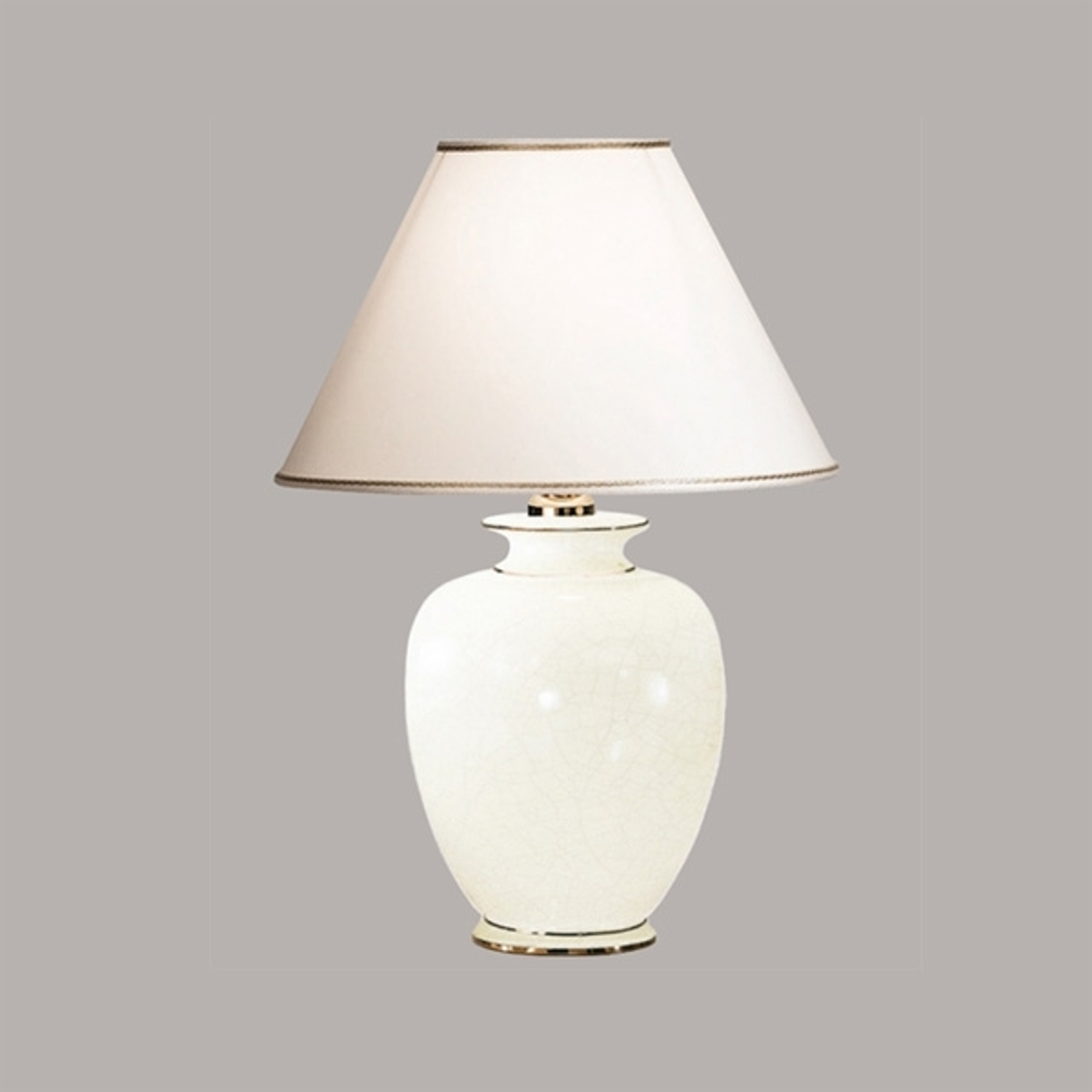 Lampe à poser blanche GIARDINO CRACLEE 40 cm
