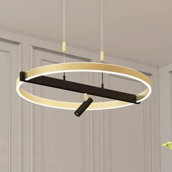Lucande Matwei LED-pendellampe ringformet messing