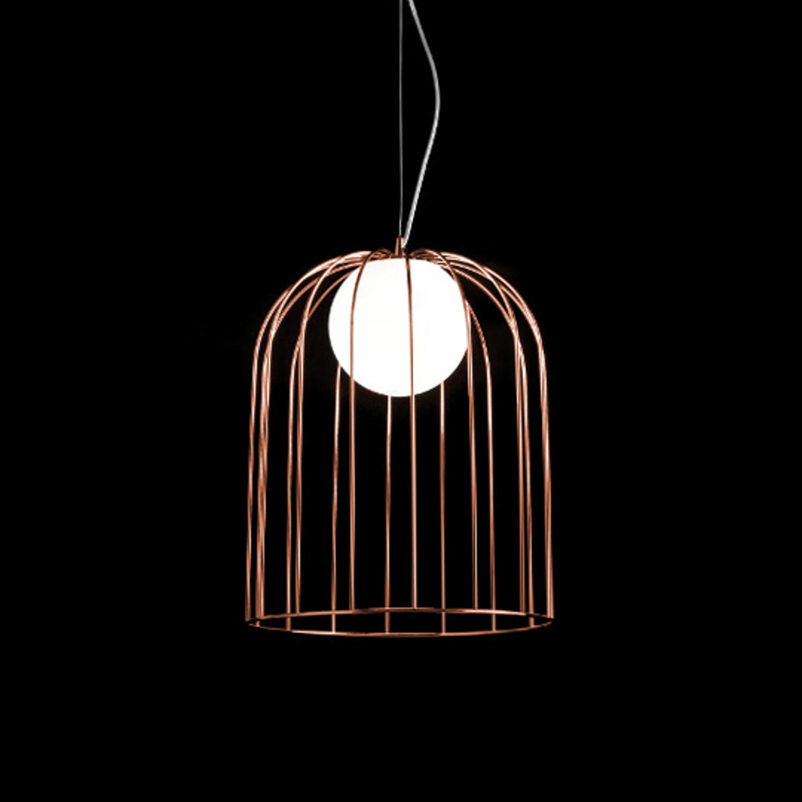 Kap met koperen kleur - designer hanglamp Kluvi