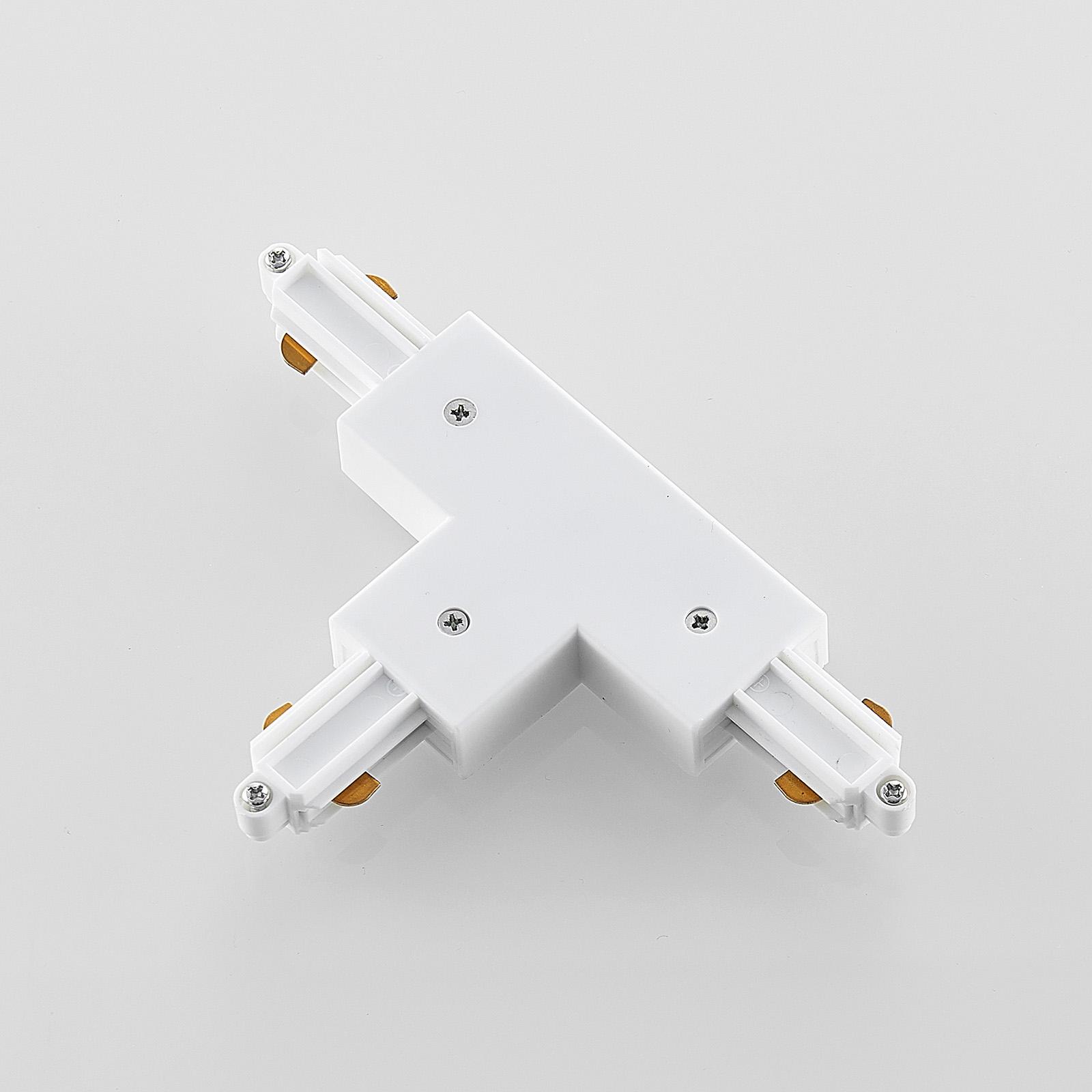 T-koblingstykke til 1-fase-skinnesystem, hvit
