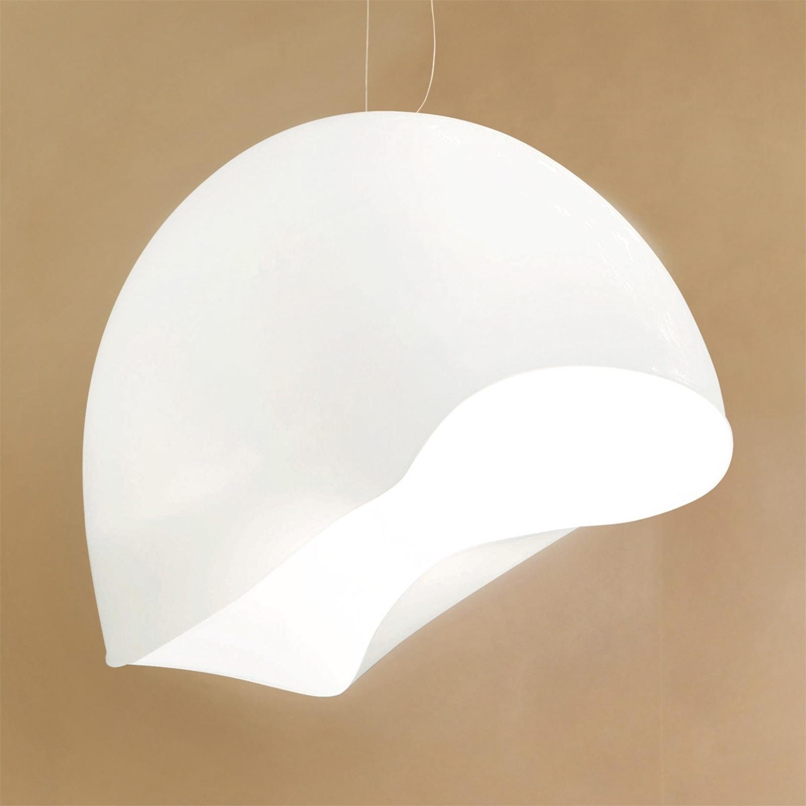 Biała lampa wisząca NINFEA