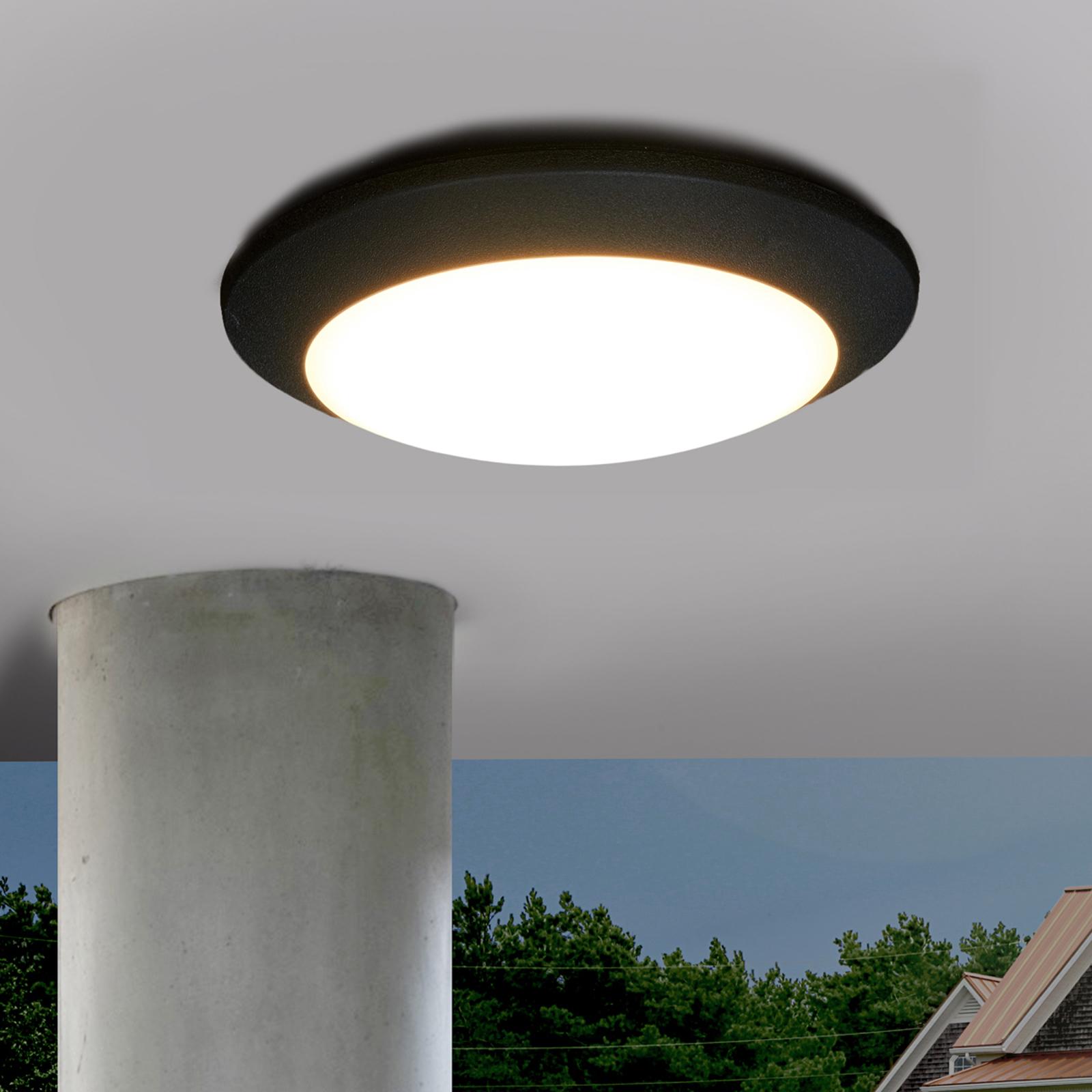 Zewnętrzna lampa sufitowa LED BERTA, czarna