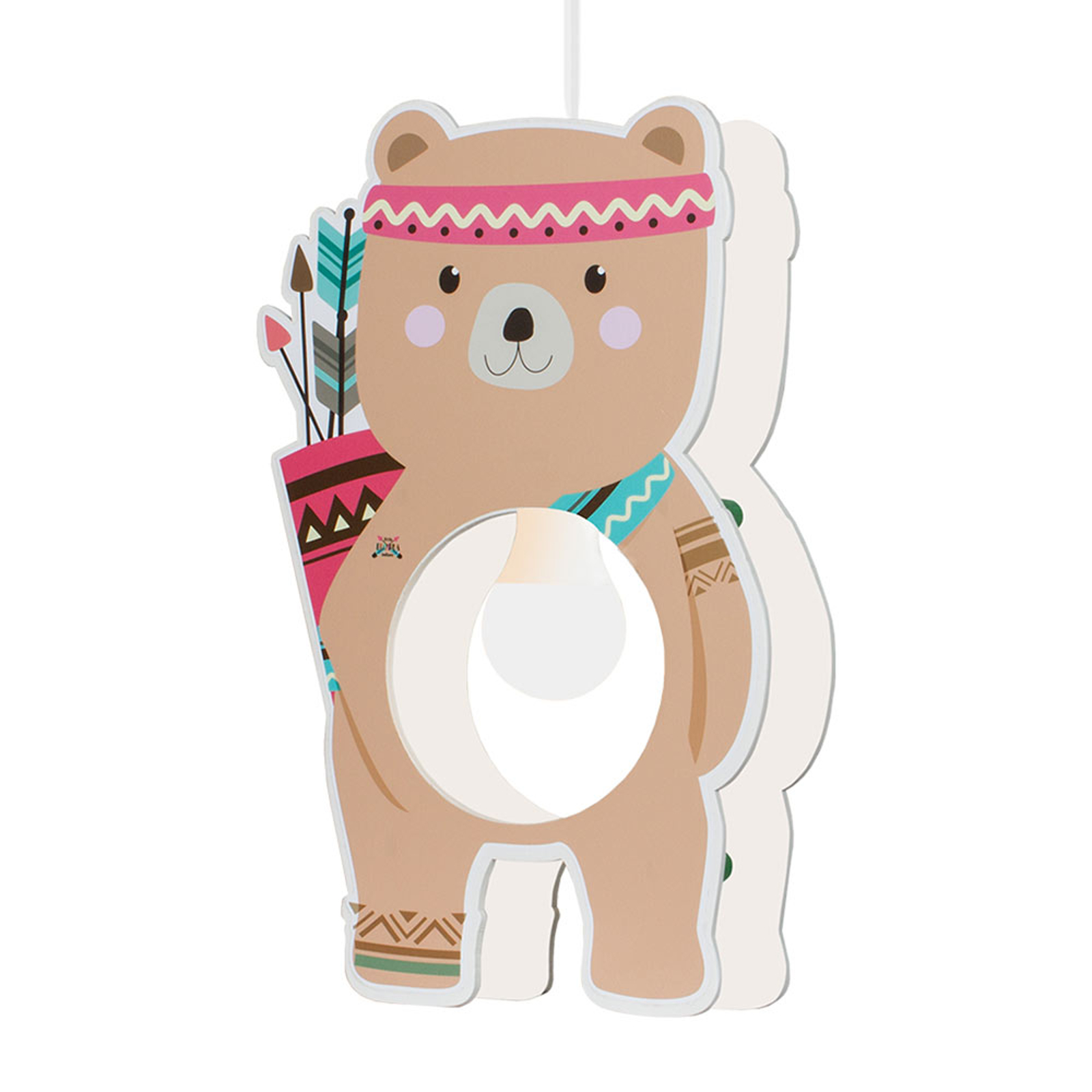 Lampa wisząca Little Indians, niedźwiedź Bjørn