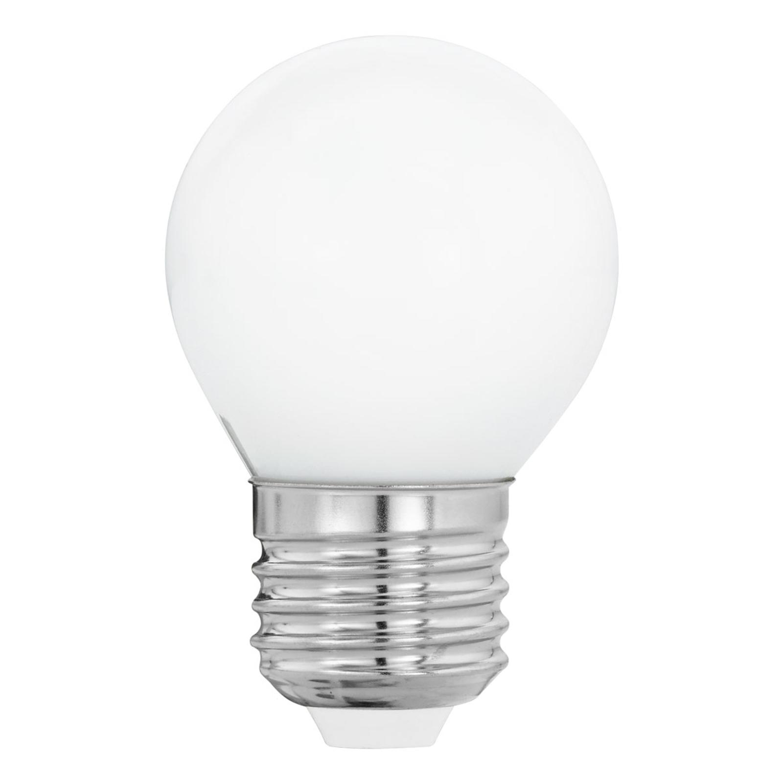 Acquista LED E27 G45 4W, bianco caldo, opale
