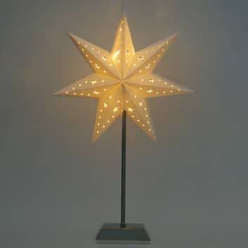 LED-papirstjerne Whitemas med sju spisser