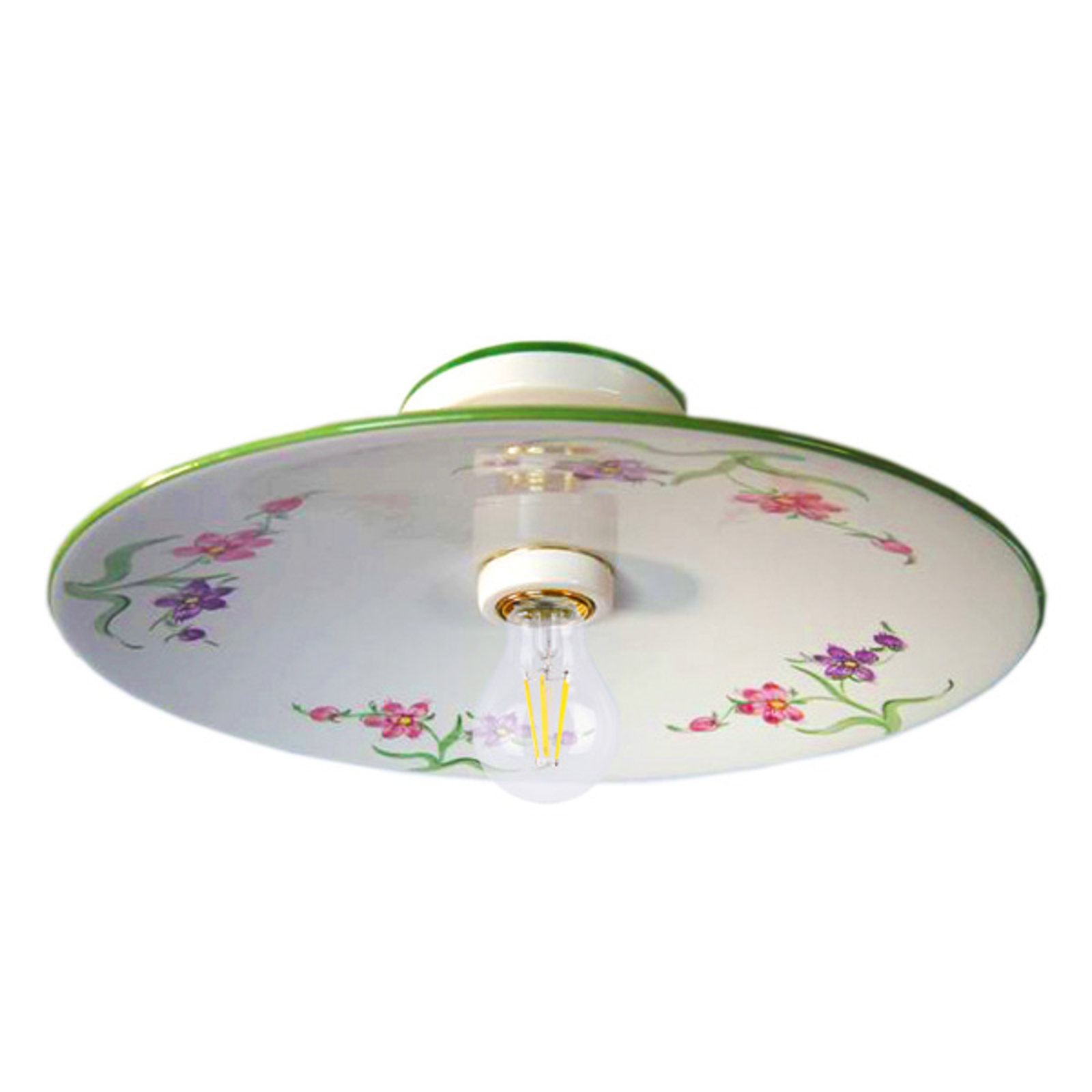 Ceramiczna lampa sufitowa AMBRA w dworkowym stylu