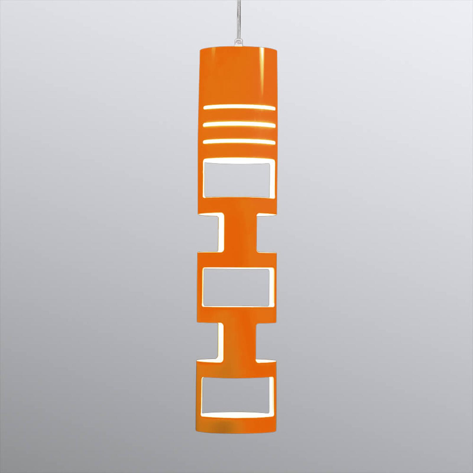 Atrakcyjna lampa wisząca Sama pomarańczowa