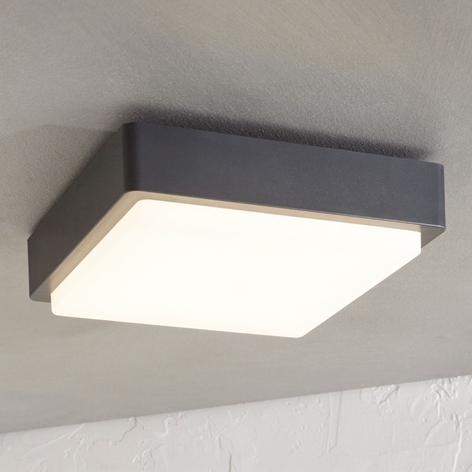 Utendørs LED-taklampe Nermin, IP65 kantet