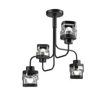 Taklampe Thor, 4 lyskilder, svart