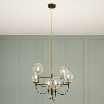 Lucande Sotiana colgante, bolas vidrio, 6 luces
