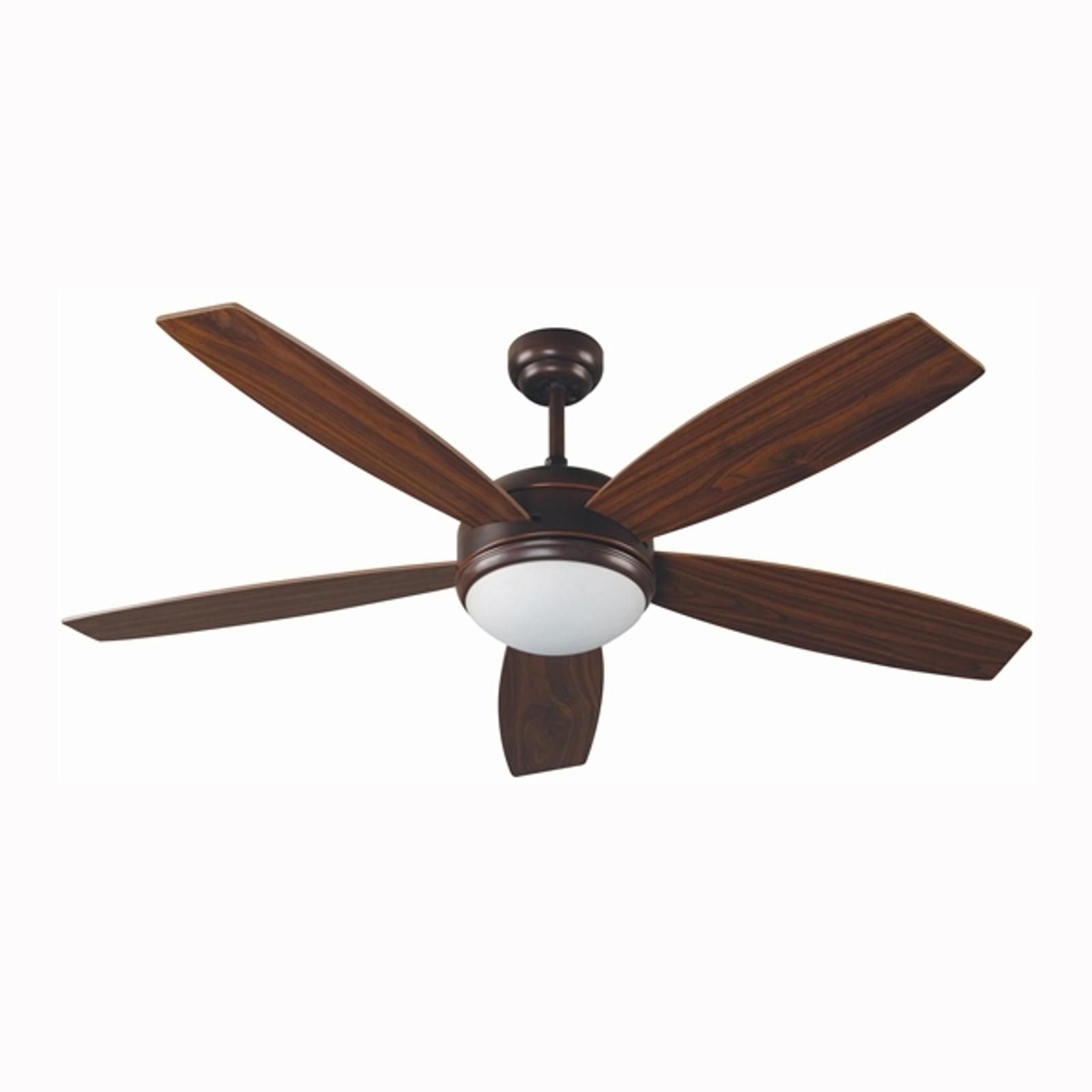 Ventilateur de plafond brun VANU avec télécommande