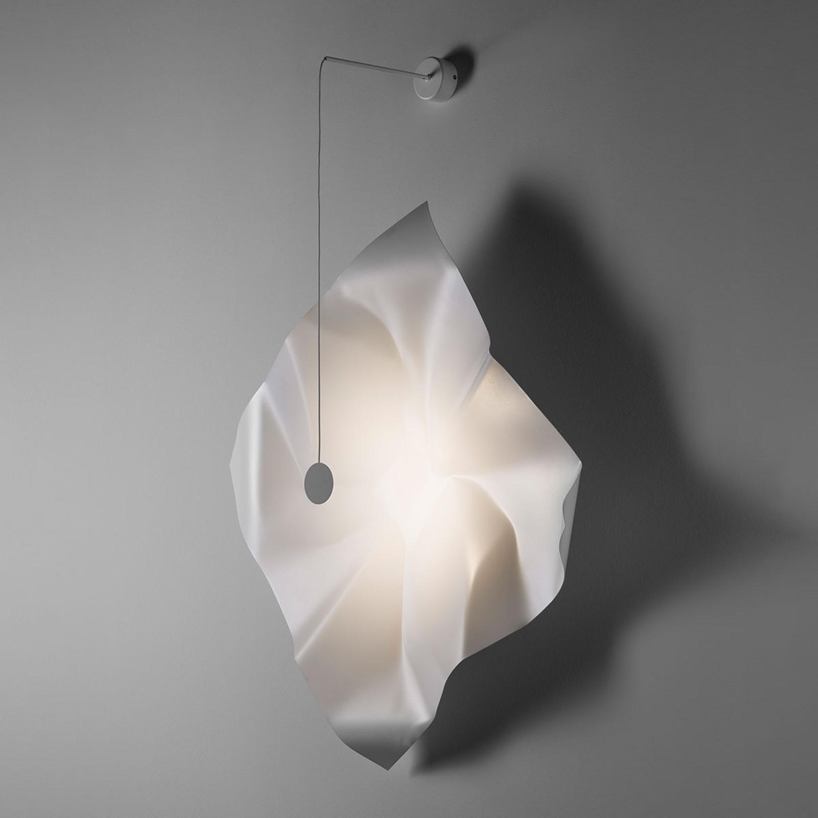 Knikerboker Crash LED-Wandleuchte weiß quadratisch