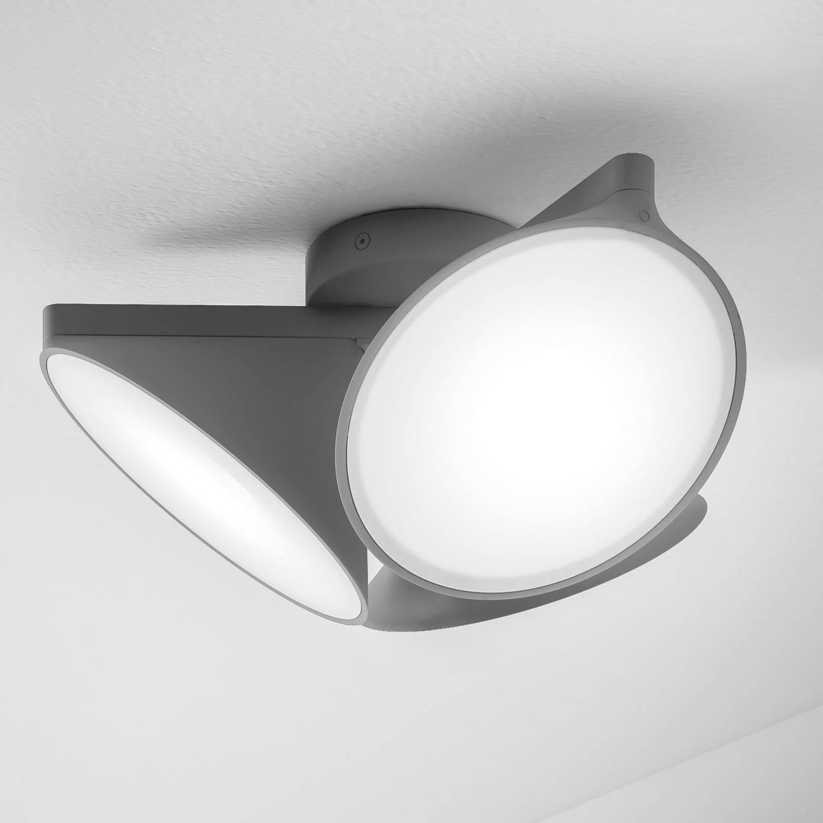 Axolight Orchid LED-Deckenleuchte, dunkelgrau