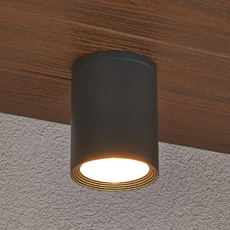 Mørkegrå loftlampe Minna til udendørs brug