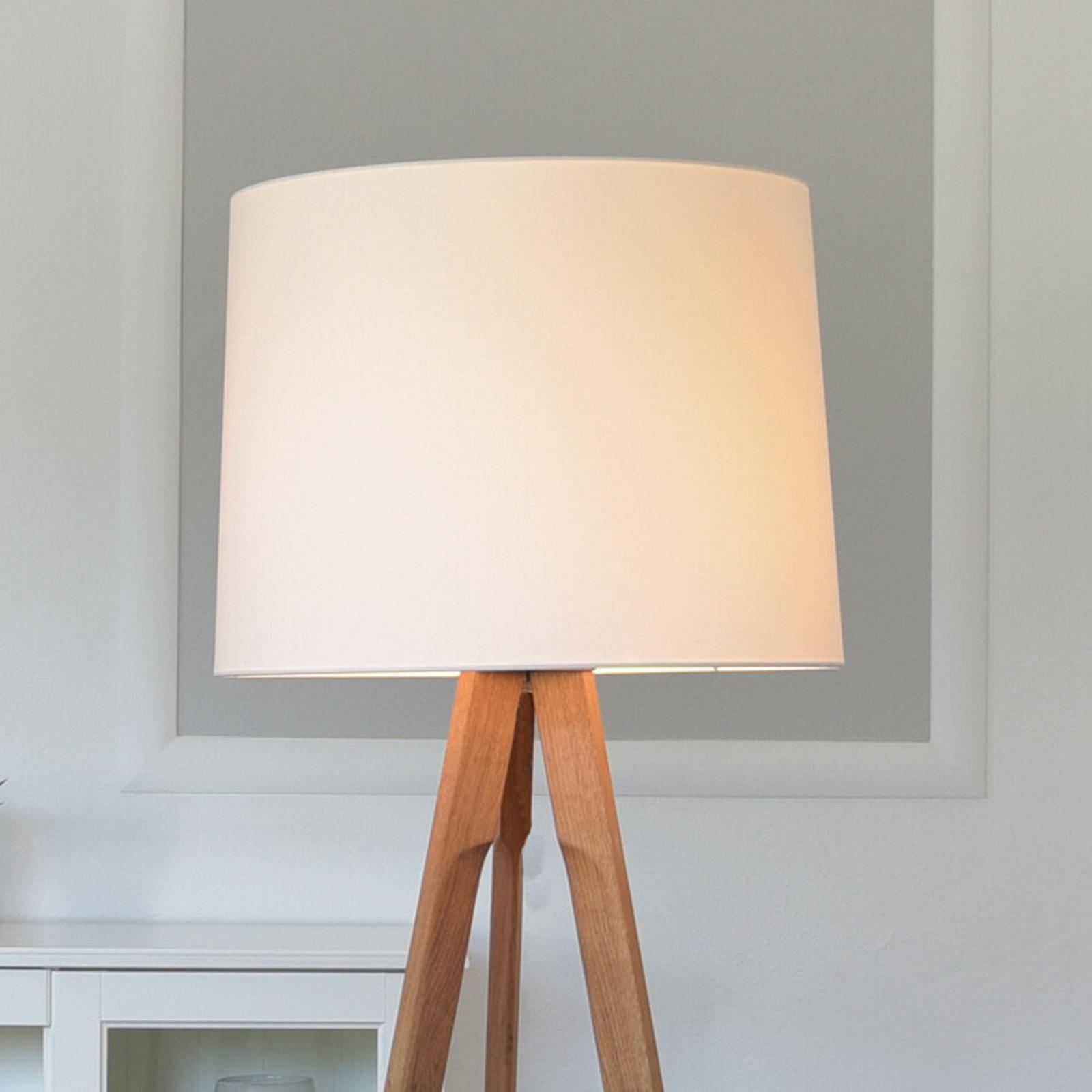 Produktové foto HerzBlut HerzBlut Tre stojací lampa bílá, dub olejovaný