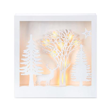 Cuadro 3D con iluminación LED Folkabo de madera