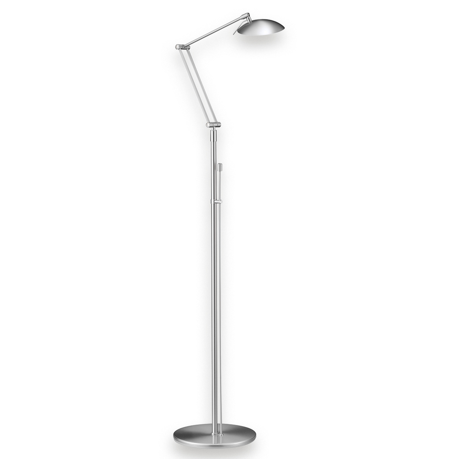 Attraktiv LED-gulvlampe LED matt nikkel