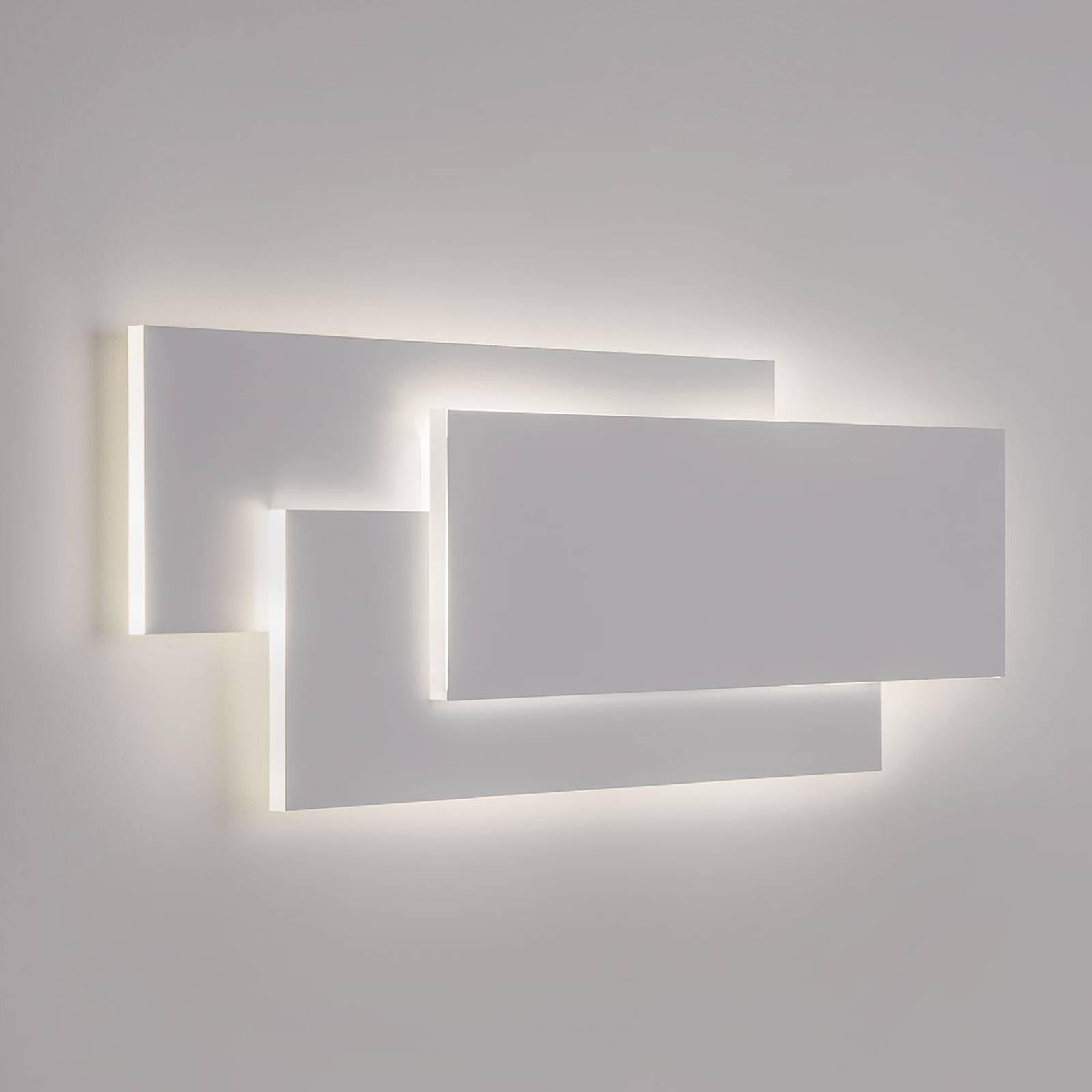 Geavanceerde LED wandlamp Edge in wit