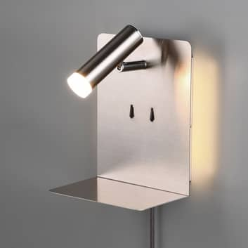 Applique LED Element con mensola, nichel satinato