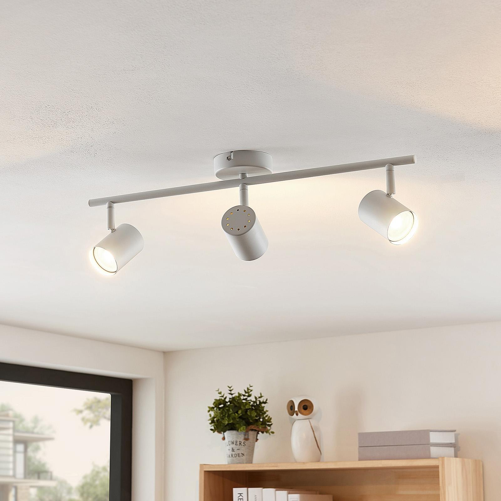 ELC Tomoki plafoniera LED, bianca, 3 luci