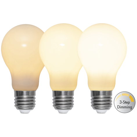 LED-Lampe E27 A60 6,5W 600lm 3-step-dim, opal
