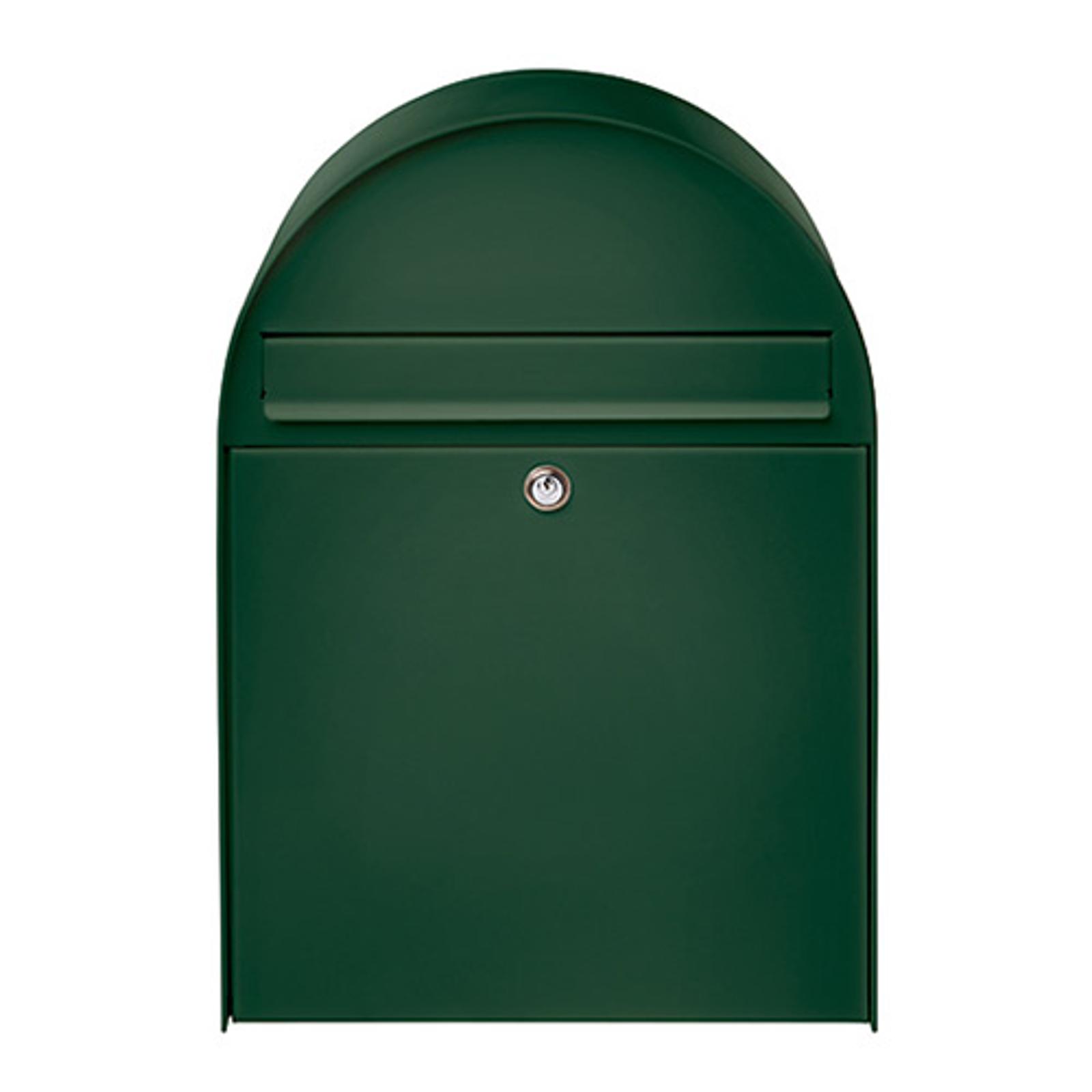 Nordisk 780 - stor postkasse, grøn beklædt