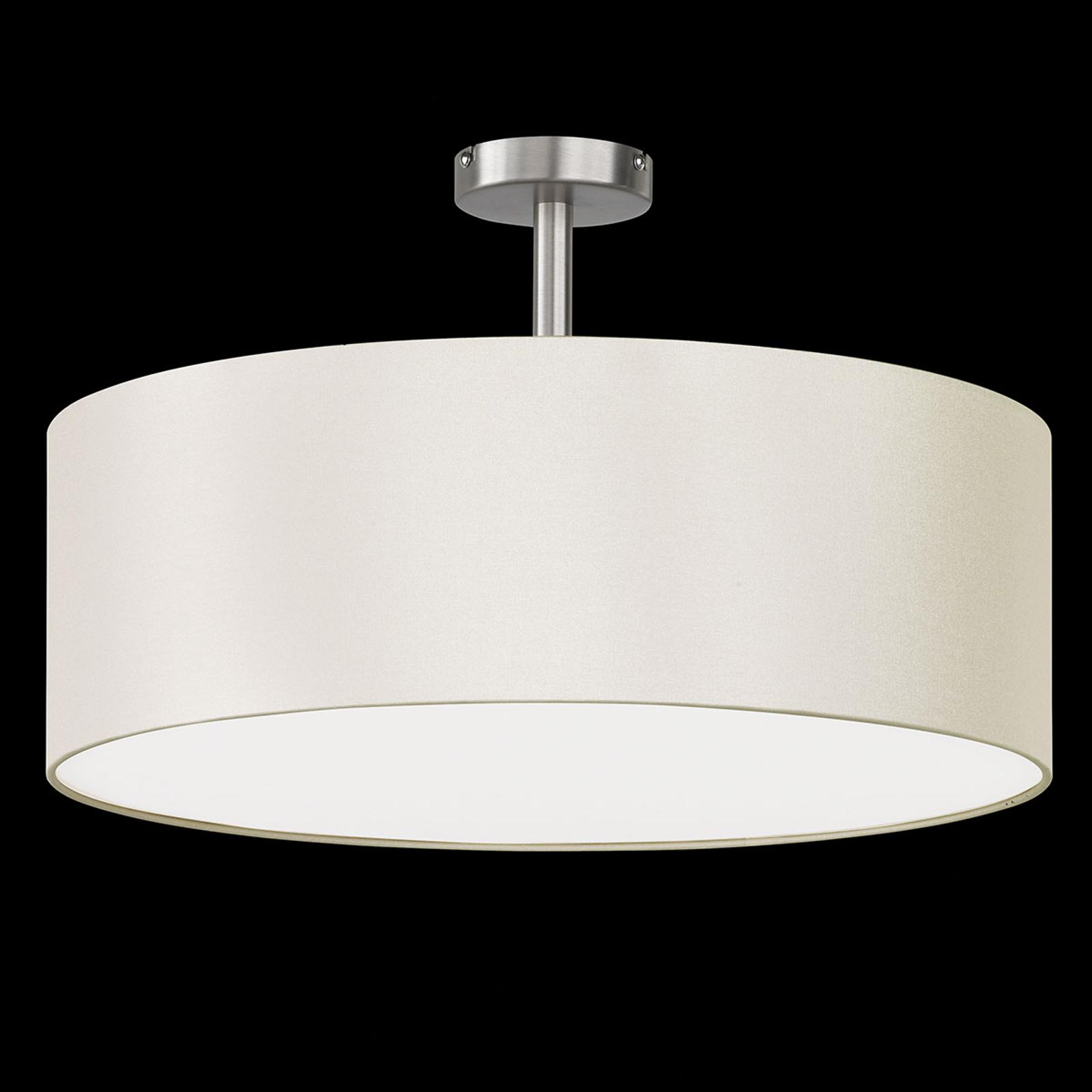 Plafondlamp Havanna met baldakijn crèmewit