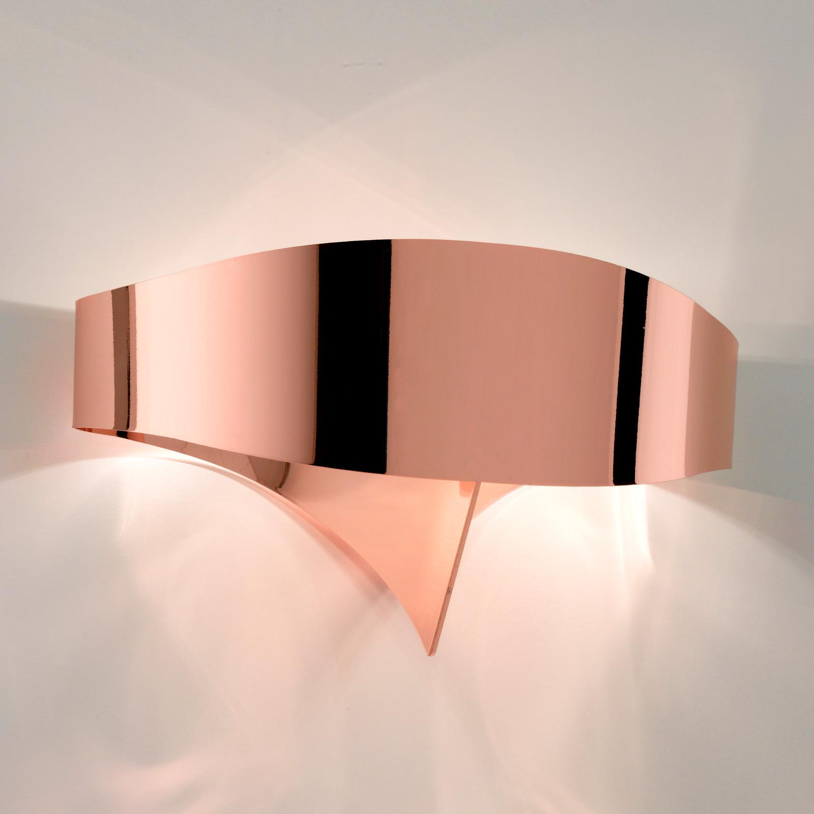 LED-Wandleuchte Scudo aus Stahl, kupfer