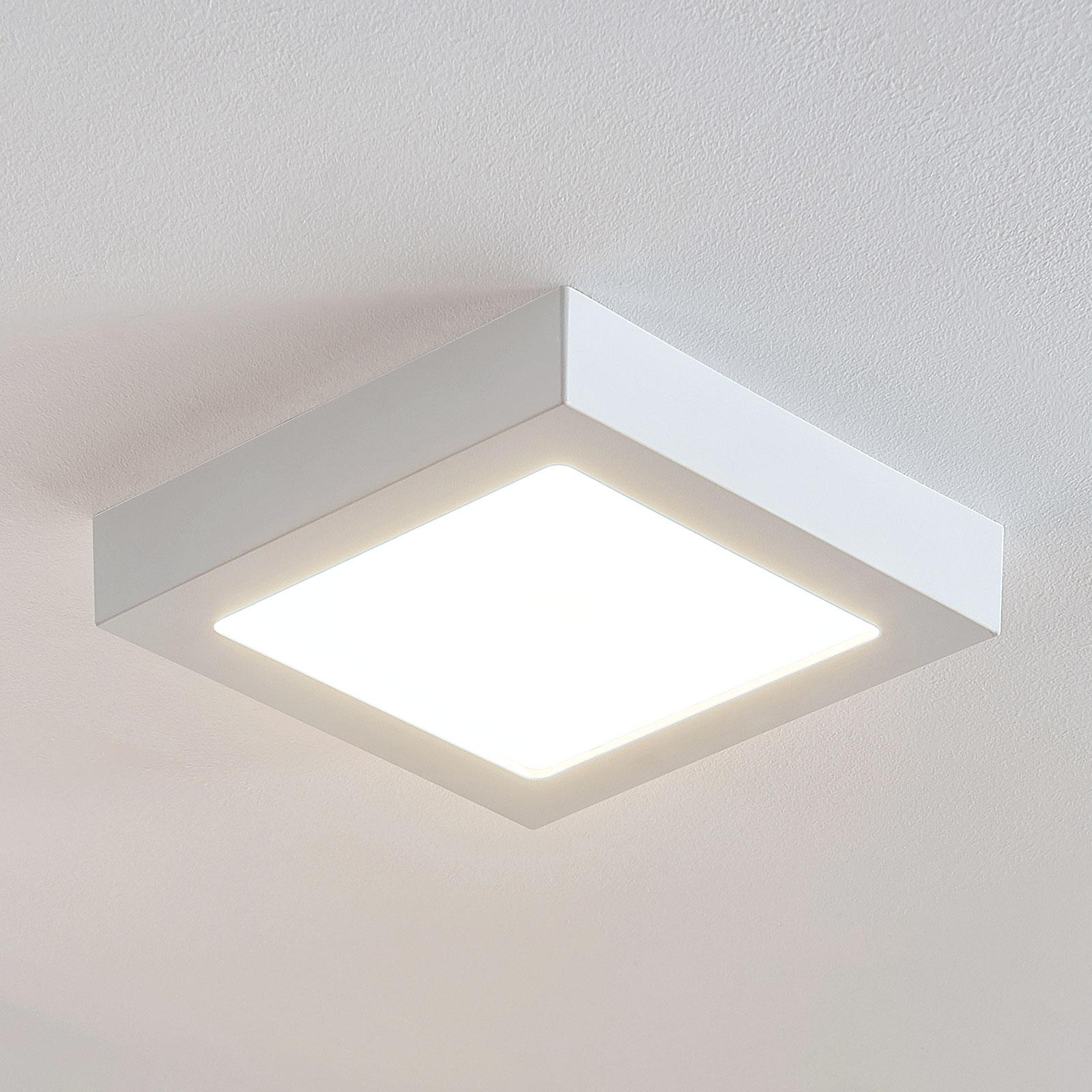 Plafón LED Marlo blanco 3.000 K angular 23,1cm