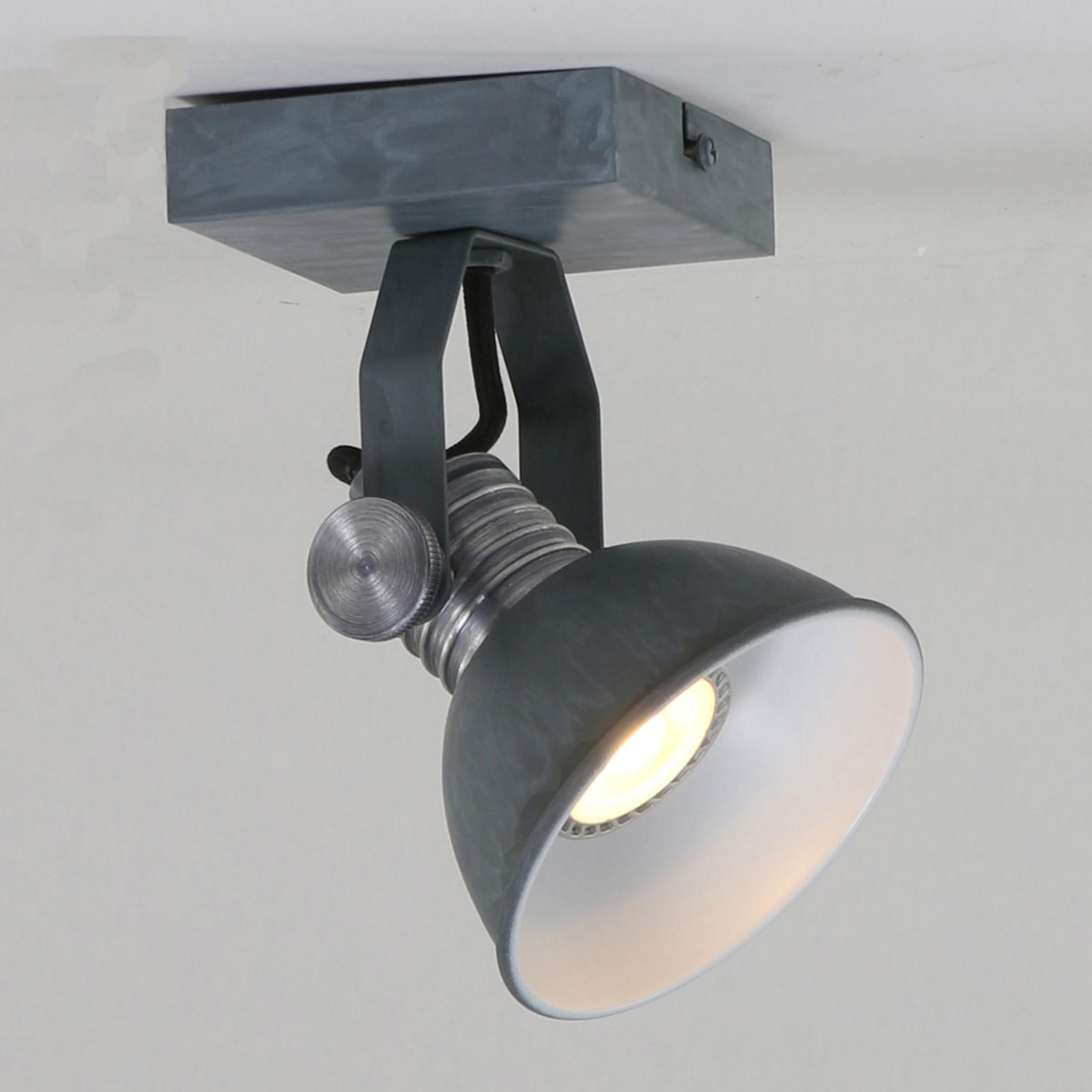 LED-veggspot Brooklyn 1 lyskilde grå