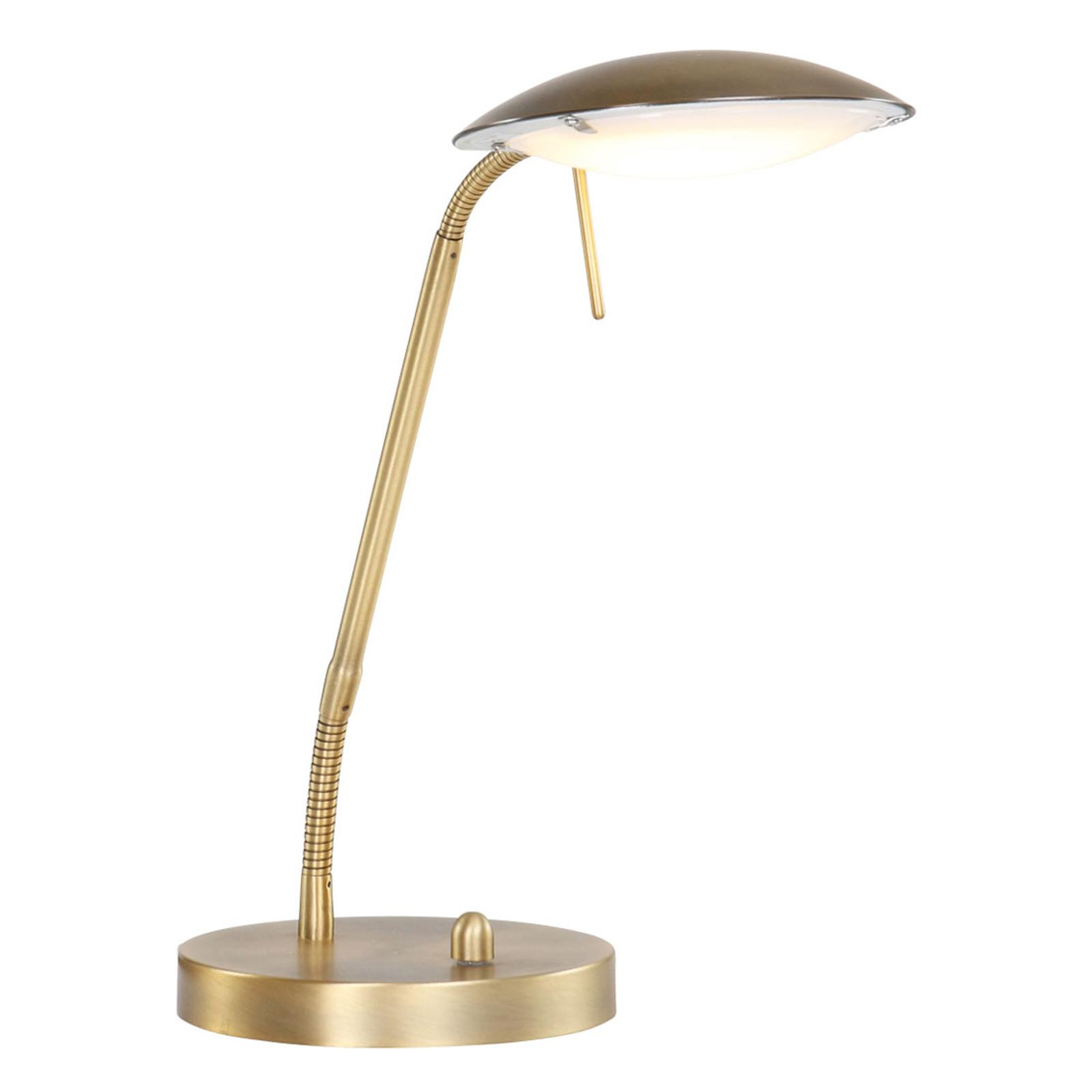 Lampa stołowa LED Mexlite brązowa