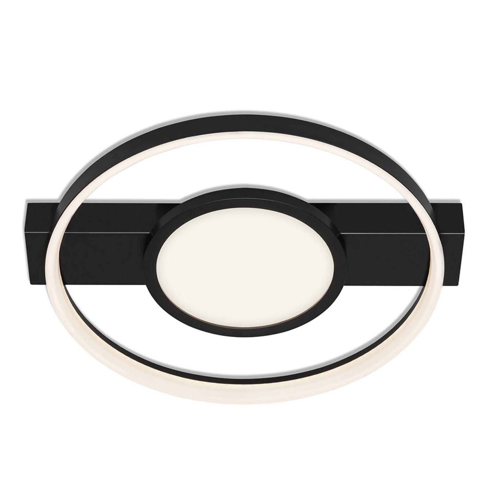 LED-Deckenleuchte 3026, rund, schwarz, zweiflammig