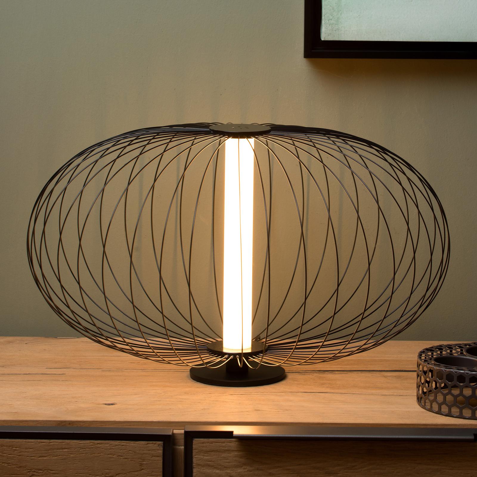 LED-Tischleuchte Carbony schwarz