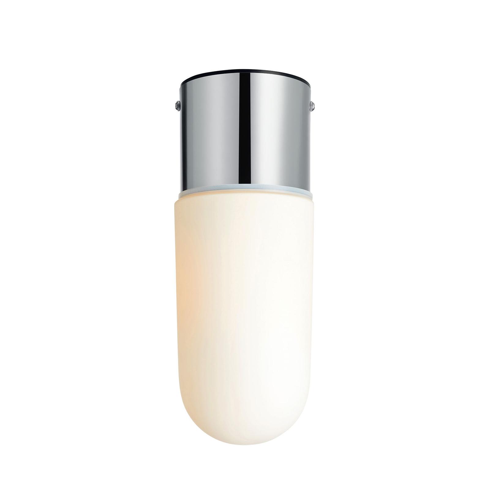 Plafondlamp Zen, matglas, chroom