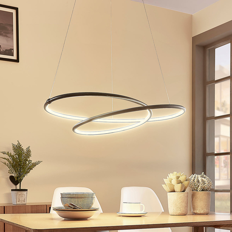 Moderna lampada a sospensione LED Mirasu nera