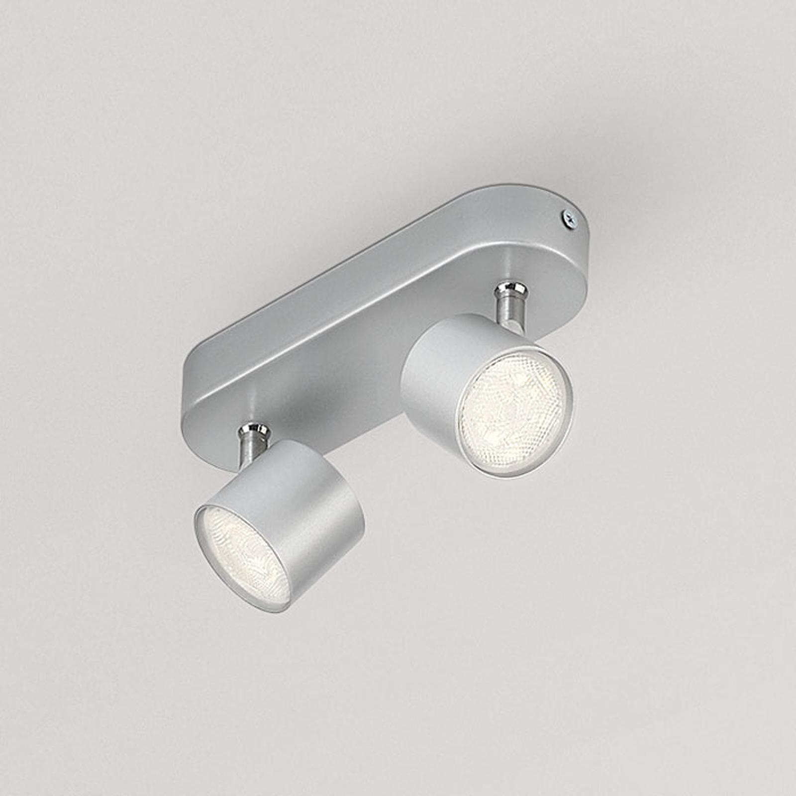 Philips Star schwenkbarer LED-Strahler grau 2flg.