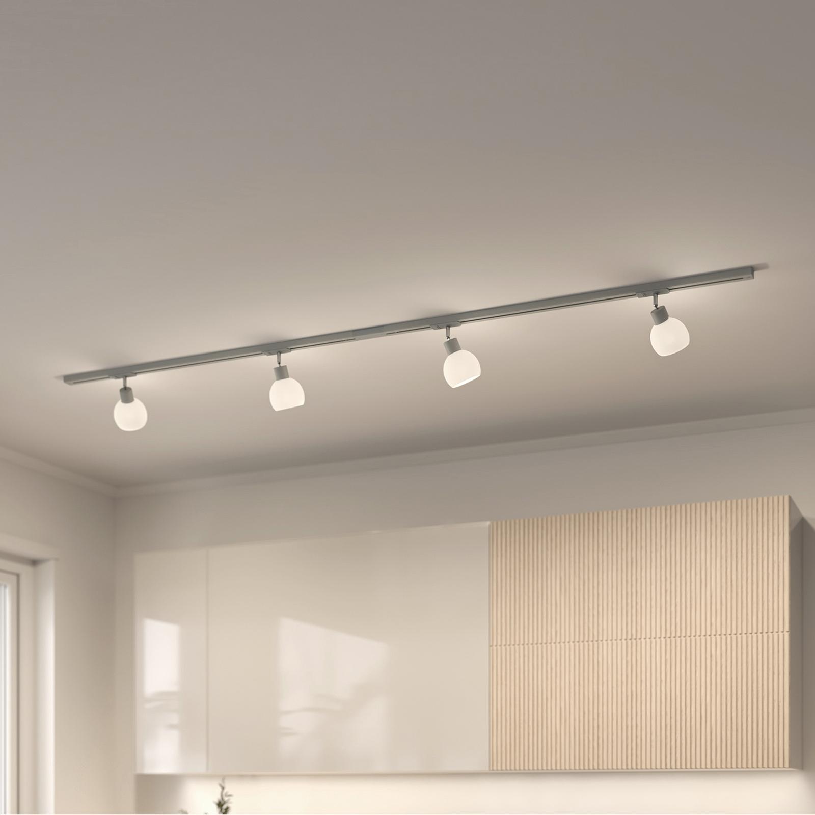 Lindby Jeanit 1-faset LED-skinne, sølv