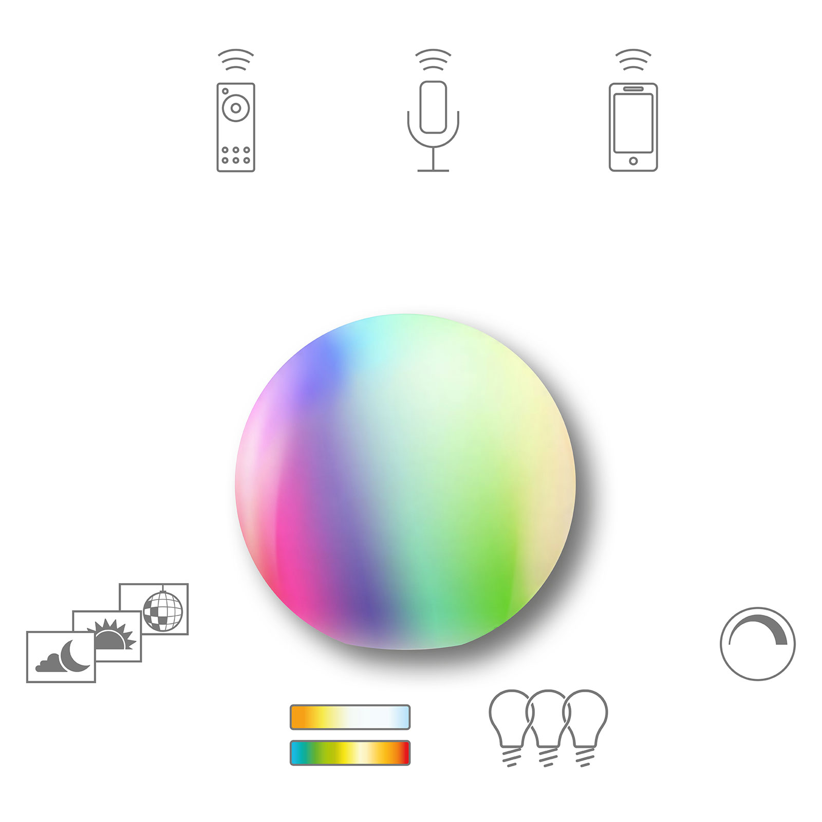 Müller Licht tint Calluna LED-lyskugle IP44