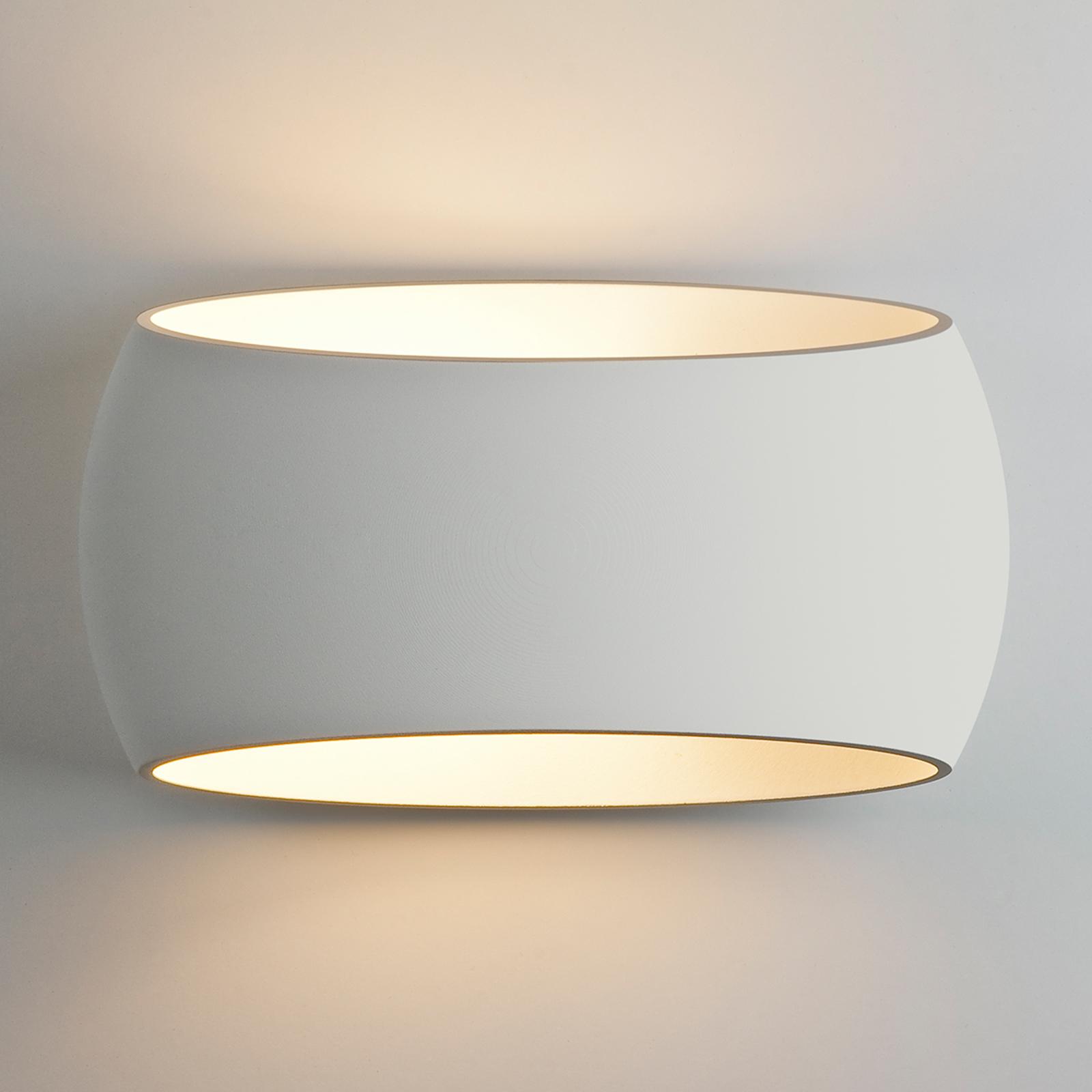 Vegglampe Aria i gips, kan males og lakkeres