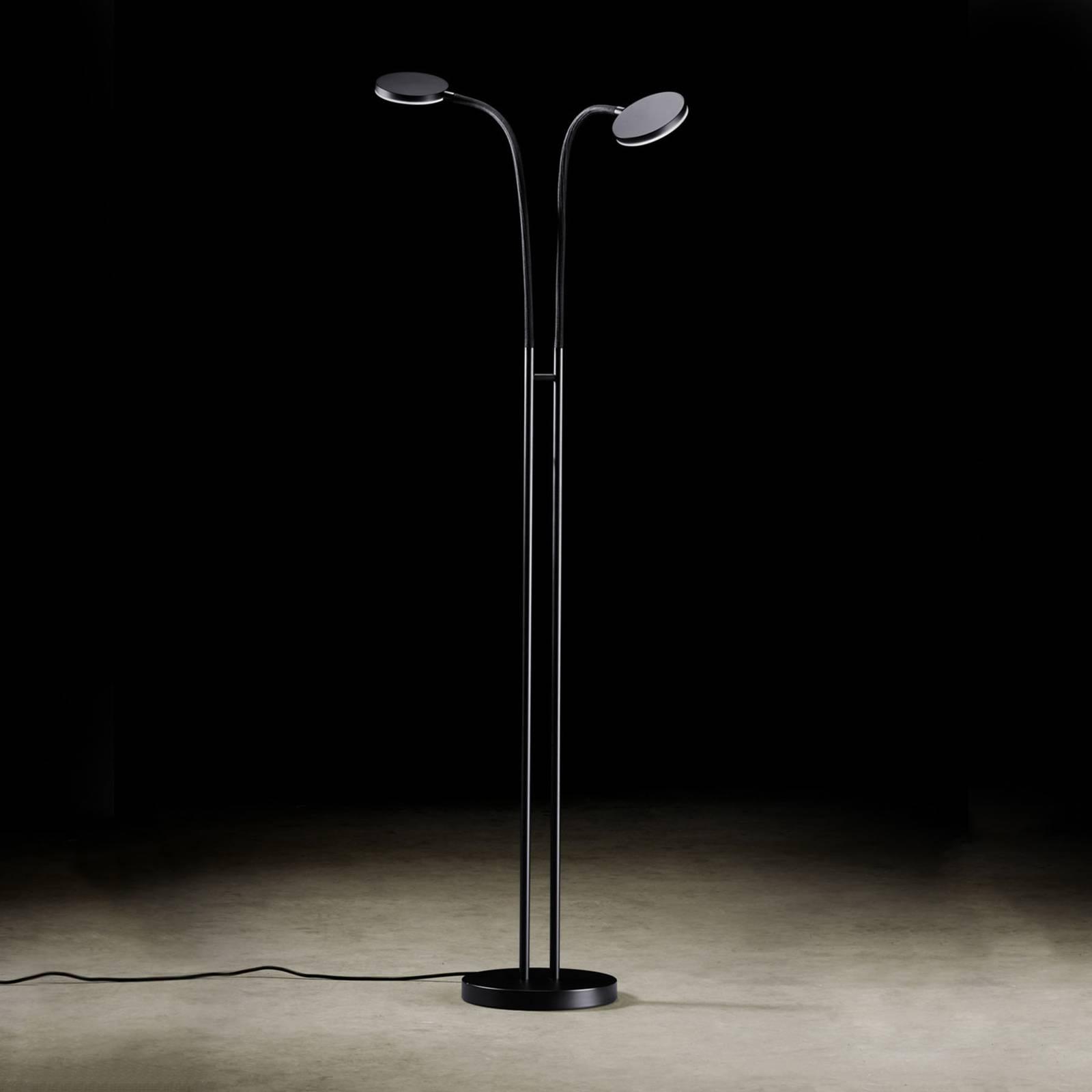 Holtkötter Flex Twin lampadaire LED noir/noir