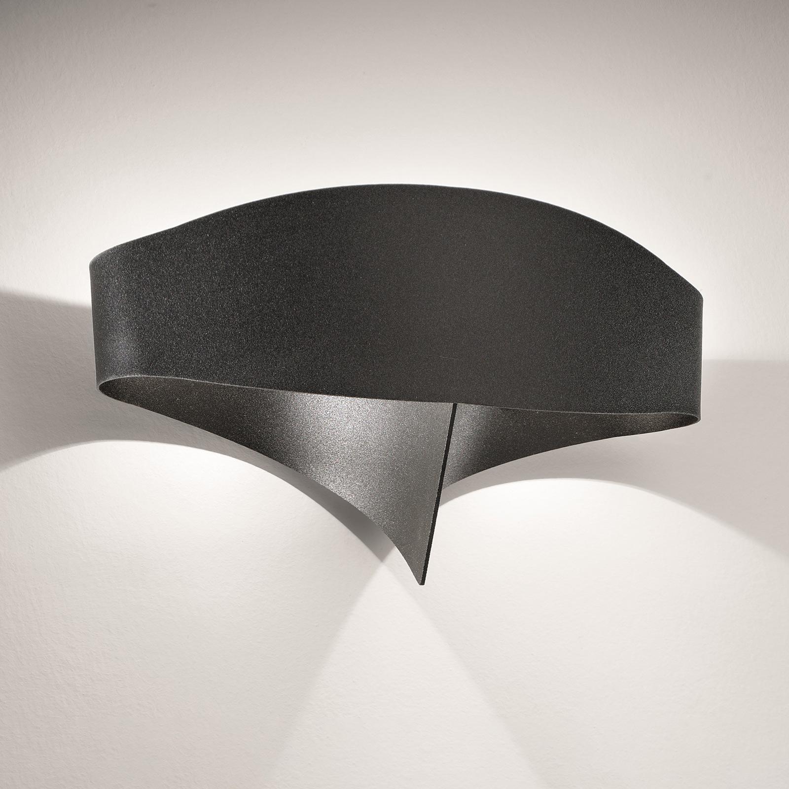 LED wandlamp Scudo van staal, zwart
