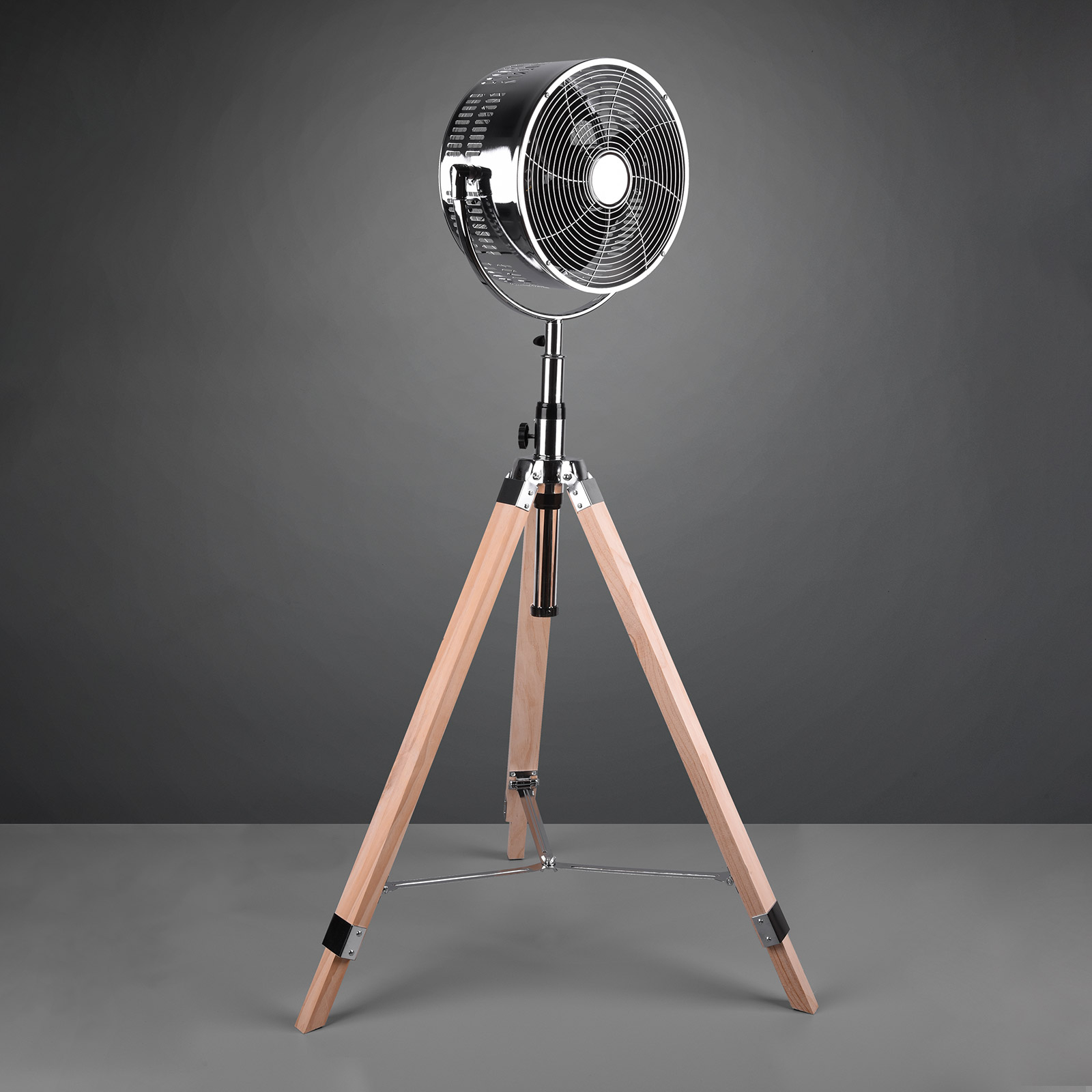 Standventilator Tromsö, Dreibein aus Holz