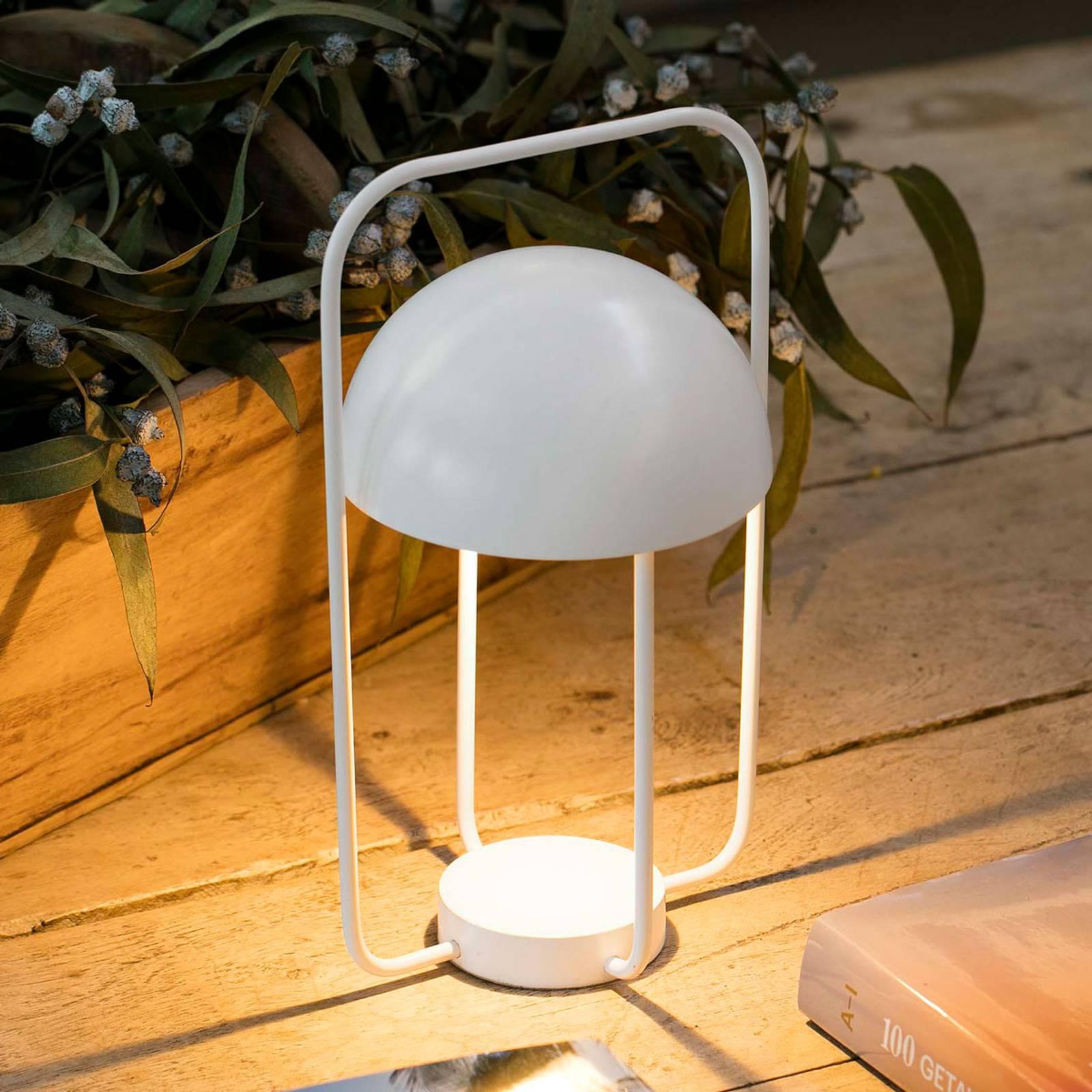 Lampe à poser Jellyfish, mobile, batterie, blanc