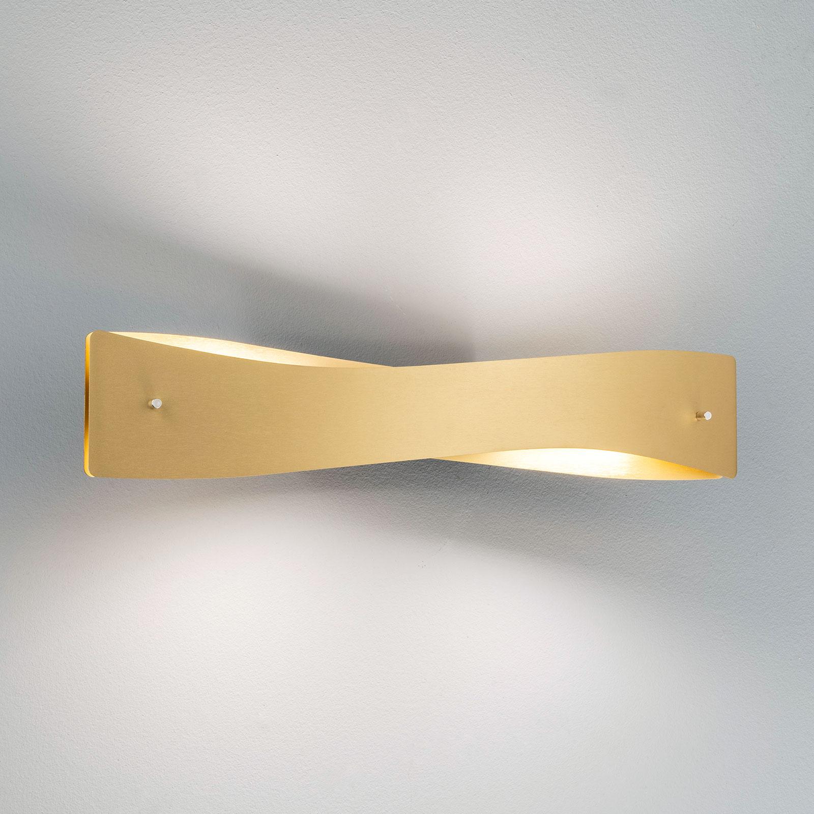 Lucande Lian LED-vegglampe, messing, svart