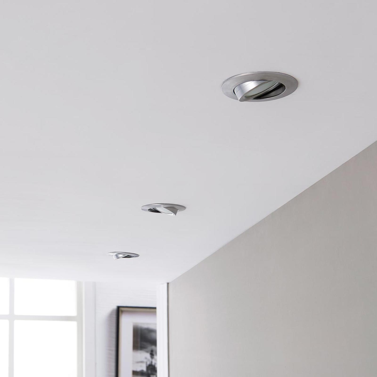 LED inbouwspot Andrej, rond, aluminium, set van 3