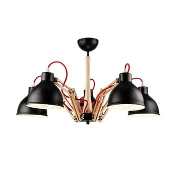 Plafoniera Skansen 5 luci regolabile nero