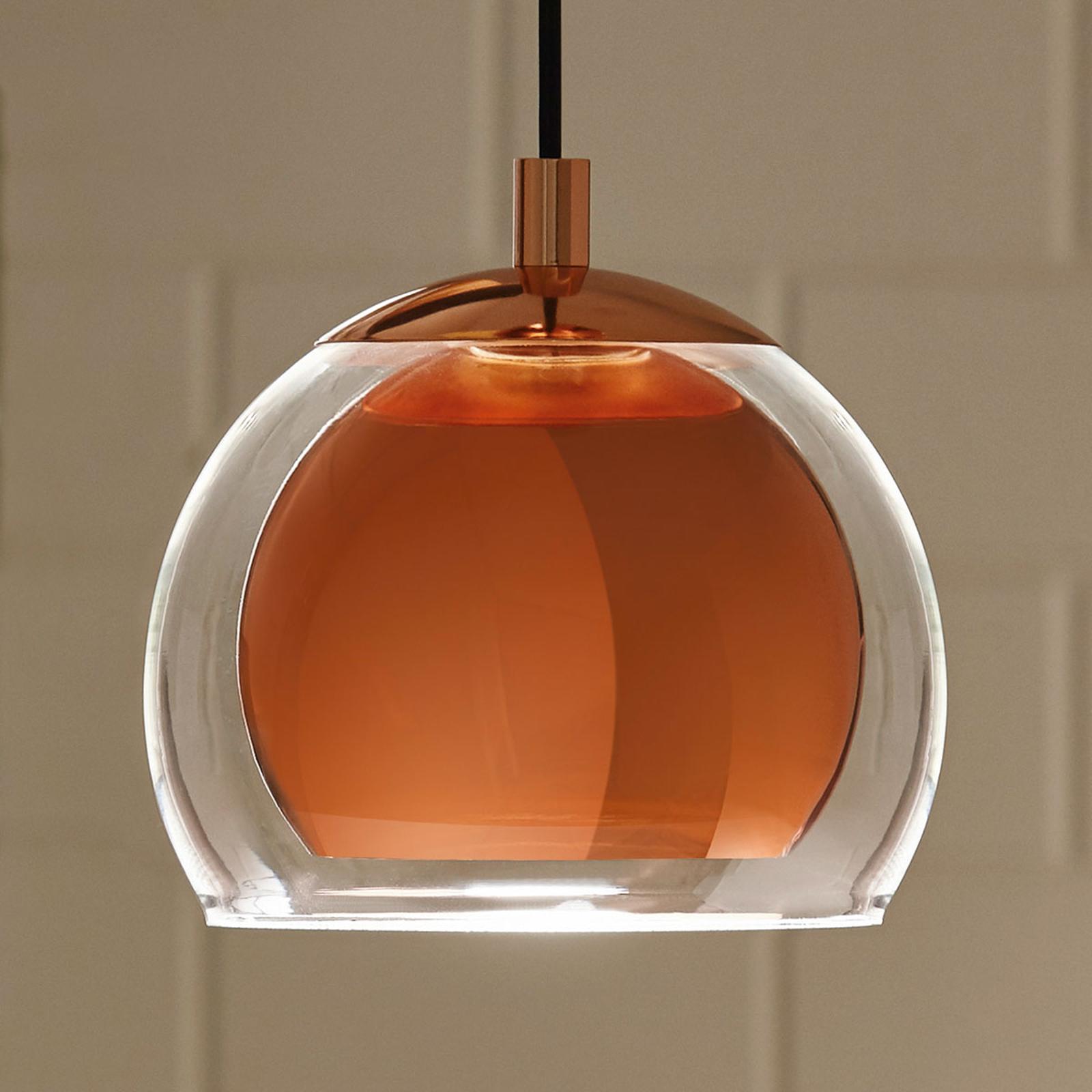 Závesná lampa Rocamar, 1-plameňová v medenej_3031750_1