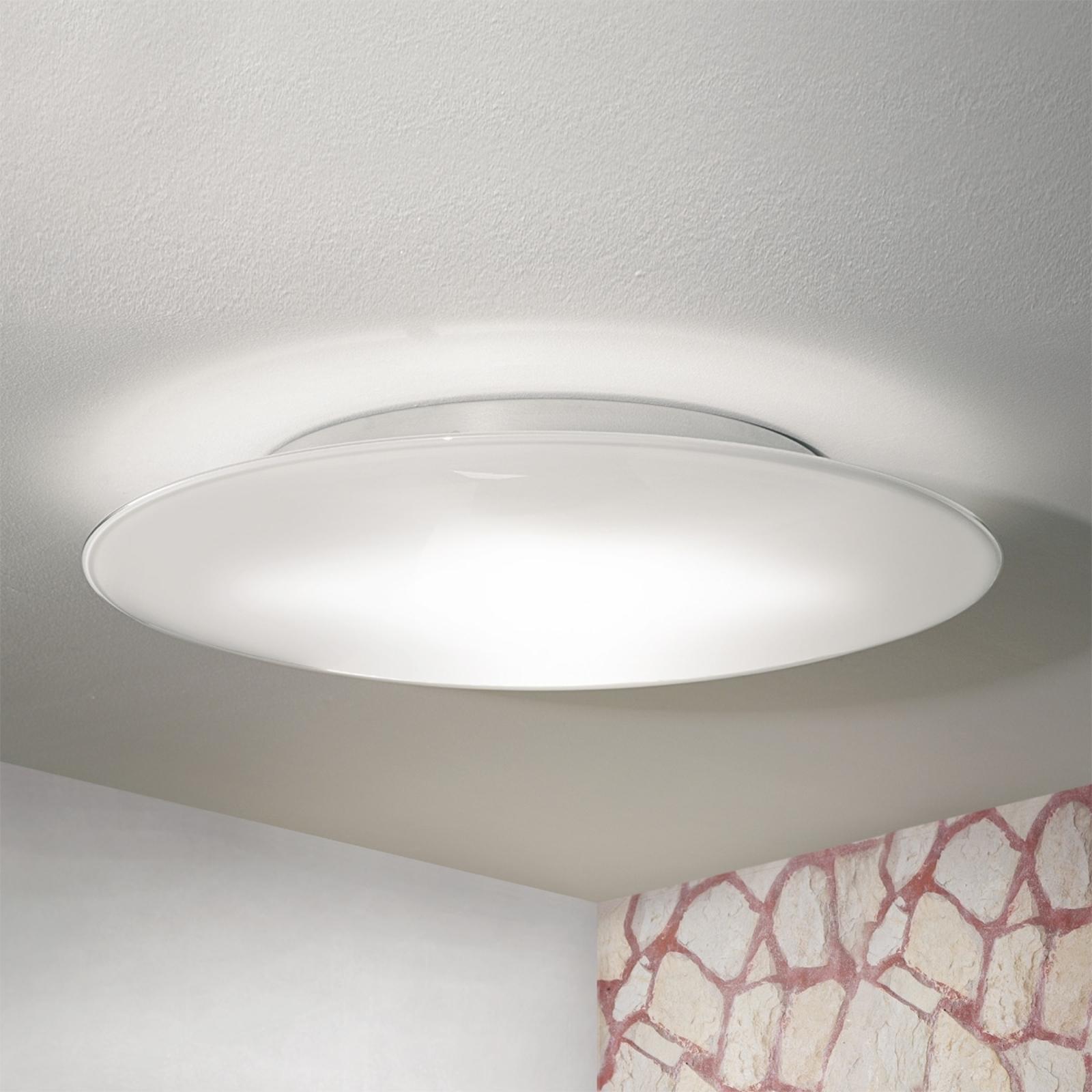 OCTOPUS lampa sufitowa z białego szkła Murano